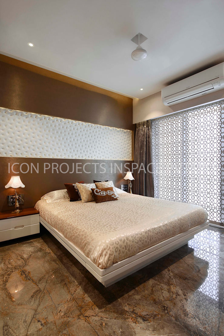 2BHK Residence Modern Bedroom by icon projects inspace pvt ltd Modern