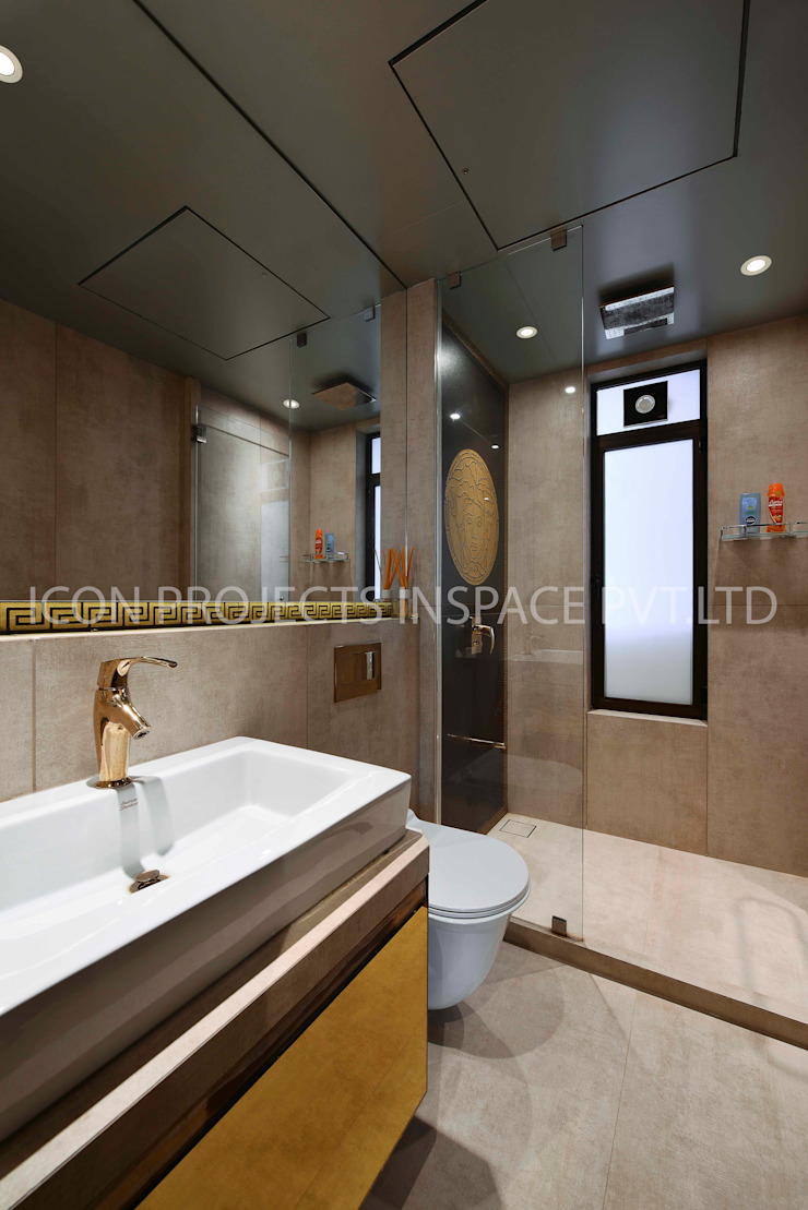 2BHK Residence Modern Bathroom by icon projects inspace pvt ltd Modern
