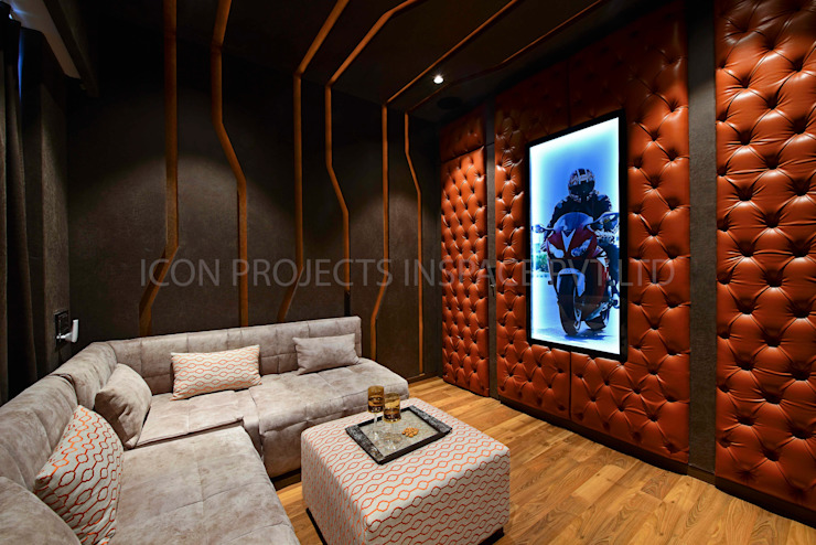2BHK Residence Modern Media Room by icon projects inspace pvt ltd Modern