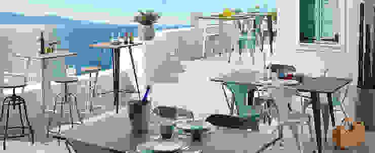 PROYECTOS CONTRACT Balcones y terrazas de estilo moderno de Muebles Flores Torreblanca Moderno