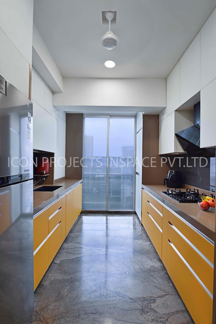 2BHK Residence Modern Kitchen by icon projects inspace pvt ltd Modern