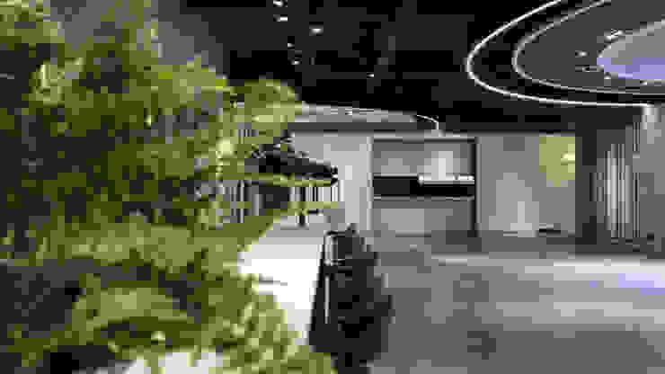 珠光烤漆 工業風的玄關、走廊與階梯 根據 見和空間設計 工業風 合板