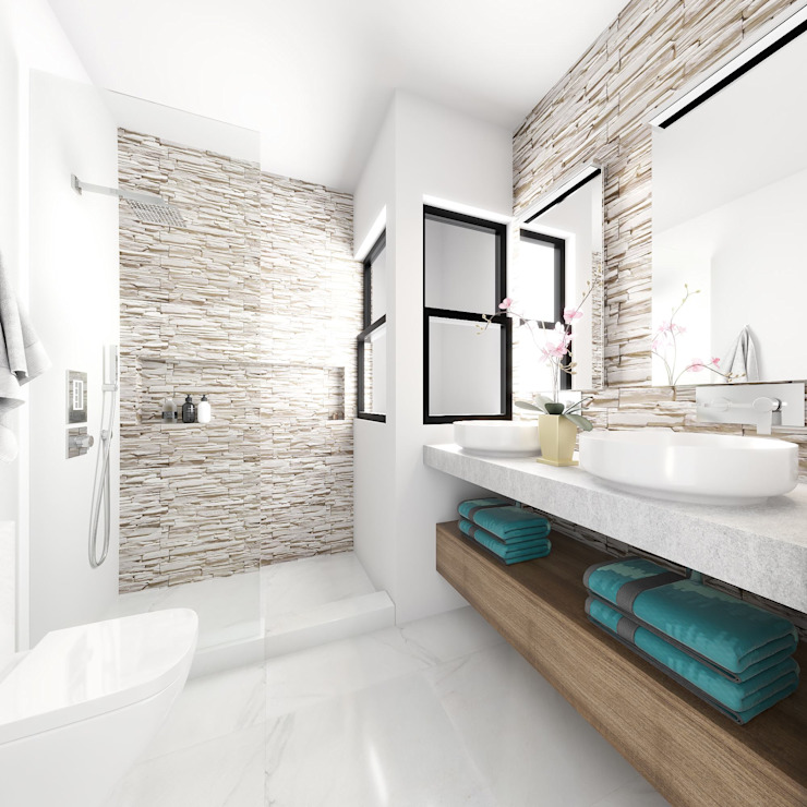Taller Veinte 現代浴室設計點子、靈感&圖片