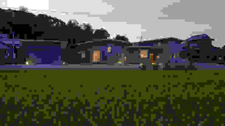 Maisons minimalistes par 有限会社MuFF Minimaliste Bois Effet bois