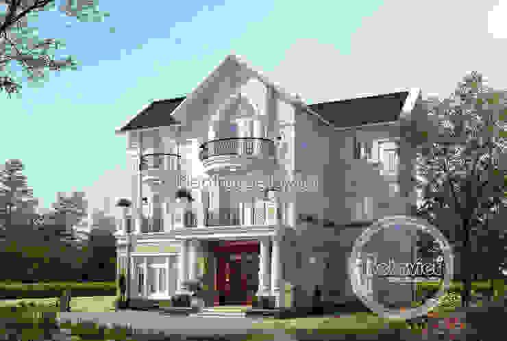 Phối cảnh mẫu thiết kế biệt thự Vinhomes Riverside KT17044 bởi Công Ty CP Kiến Trúc và Xây Dựng Betaviet