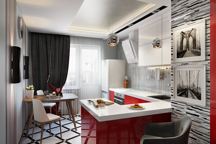 Eclectic style kitchen by Дизайн студия Алёны Чекалиной Eclectic
