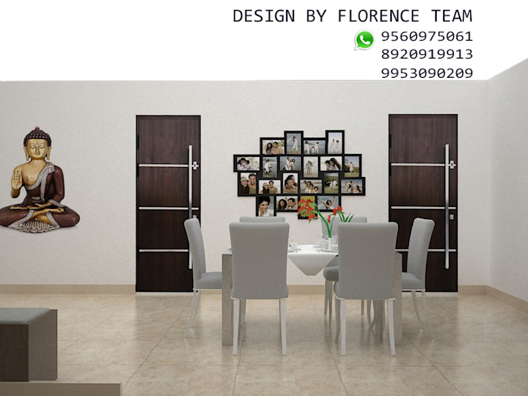 Residential project Classic style dining room by Florence Management Services Classic Marble