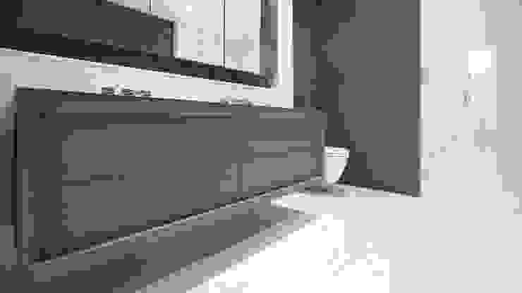 53 Greene Street | Bathroom GD Arredamenti 現代浴室設計點子、靈感&圖片 實木 Blue