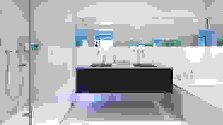 Nolita Apartment | Bathroom GD Arredamenti Bagno moderno Legno massello Marrone