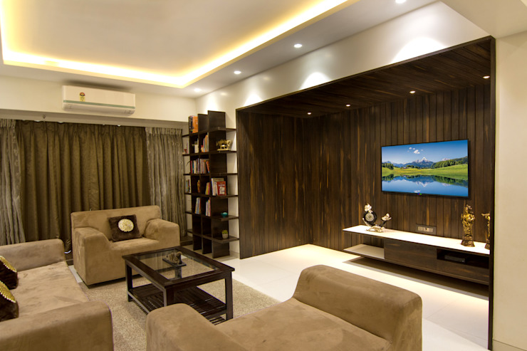 3 BHK at Borivali Modern living room by A Design Studio Modern