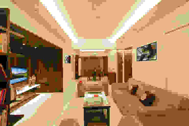 3 BHK at Borivali Modern living room by A Design Studio Modern