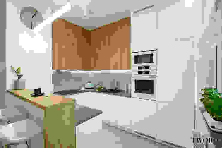 現代廚房設計點子、靈感&圖片 根據 Klaudia Tworo Projektowanie Wnętrz Sp. z o.o. 現代風