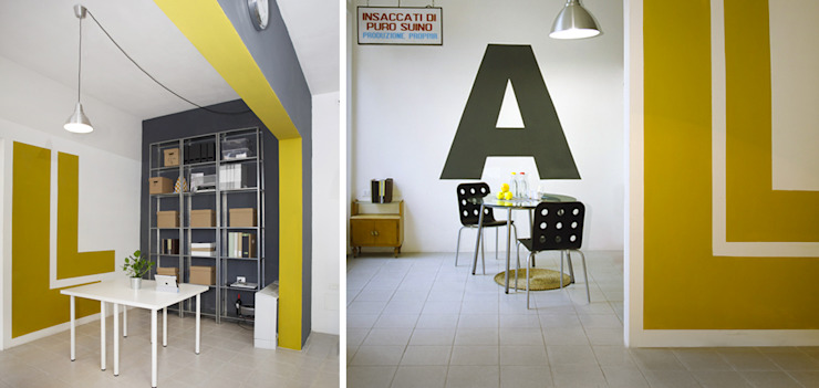 Archivio e zona caffè Complesso d'uffici moderni di Rifò Moderno