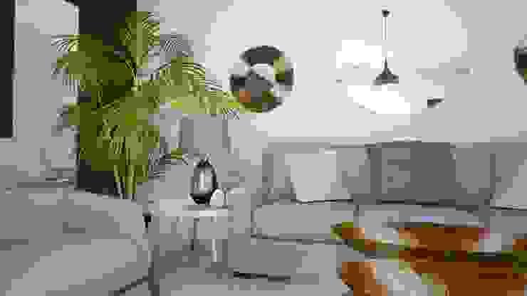 Alojamento turístico em Belém Tezturas • Arquitectura e Decoração de Interiores Salas de estar escandinavas