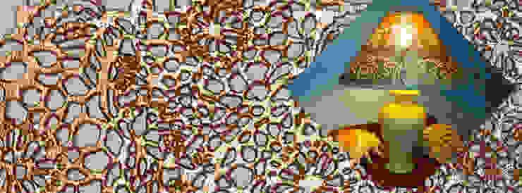 por Alexandrova living DECOR Clássico Têxtil Ambar/dourado