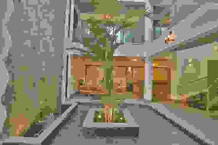 Farm house (Part 2) Modern corridor, hallway & stairs by SPACCE INTERIORS Modern