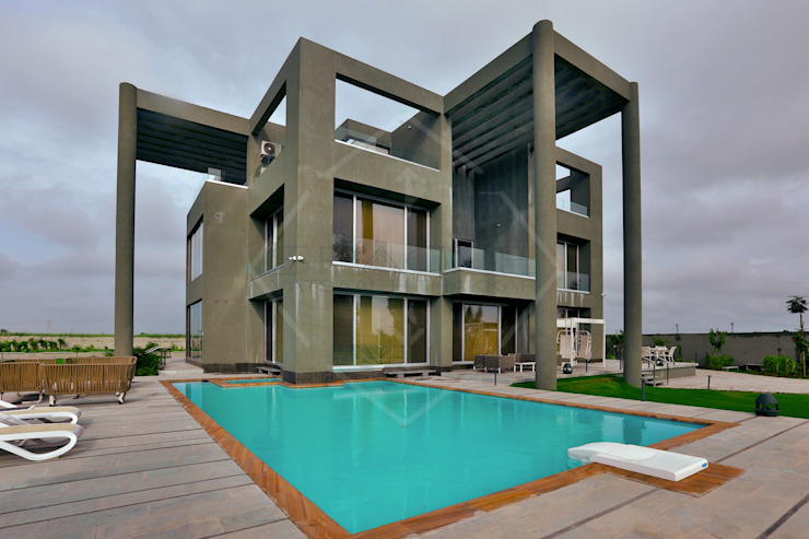 Farm house (Part 2) Modern pool by SPACCE INTERIORS Modern