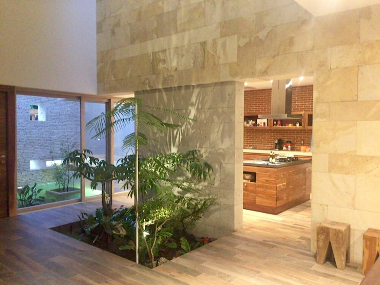 Modern corridor, hallway & stairs by axg arquitectos Modern