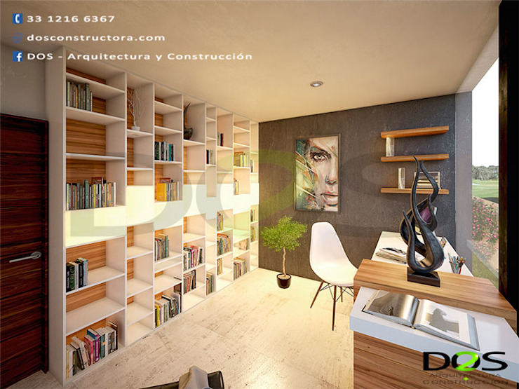Modern study/office by DOS Arquitectura y construcción Modern