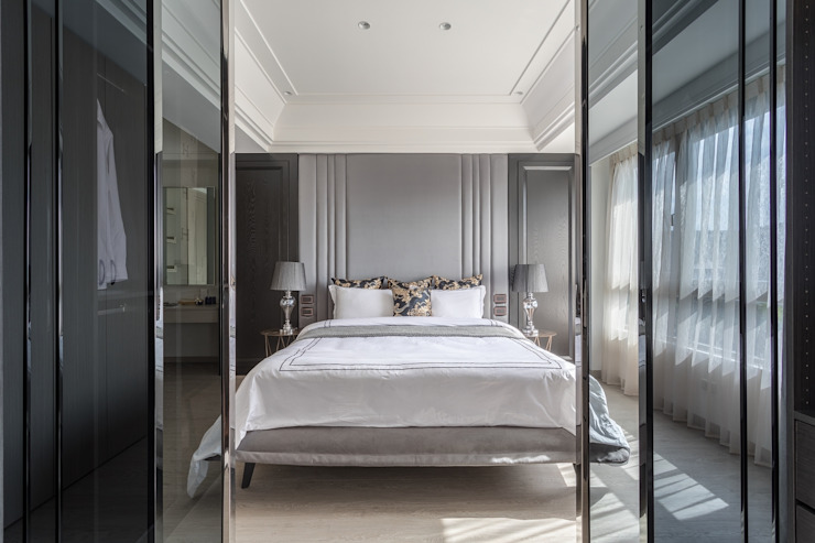Camera da letto minimalista di E&C創意設計有限公司 Minimalista