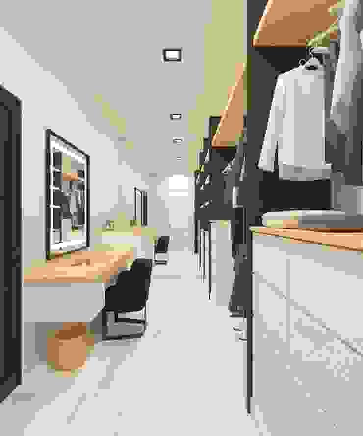 Walk in Closet Ruang Ganti Gaya Skandinavia Oleh Noff Design Skandinavia Kayu Buatan Transparent