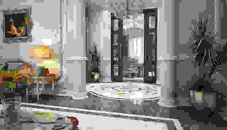 مدخل مجلس الرجال راهرو سبک کلاسیک، راهرو و پله من بازار للتصميم الداخلي كلاسيكي
