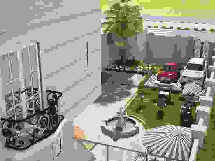 الحديقة الخارجية من بازار للتصميم الداخلي كلاسيكي