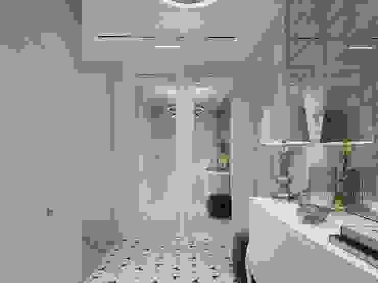 Couloir, entrée, escaliers classiques par Y.F.architects Classique
