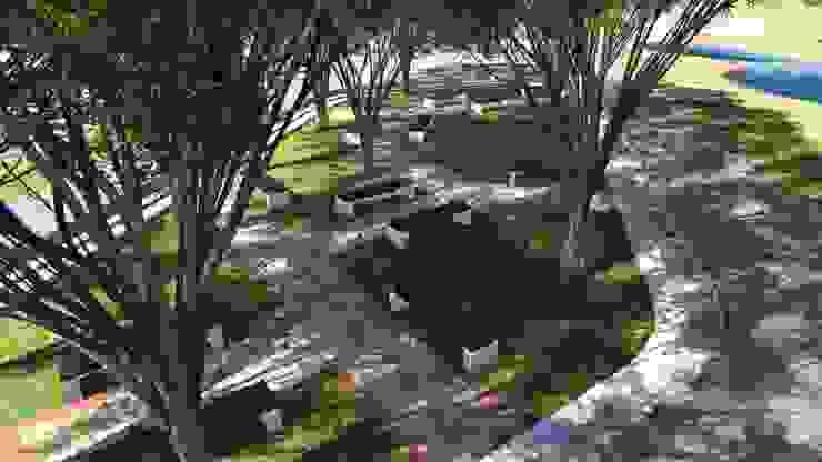 Landscape Sitting arrangements: modern  by Cfolios Design And Construction Solutions Pvt Ltd,Modern