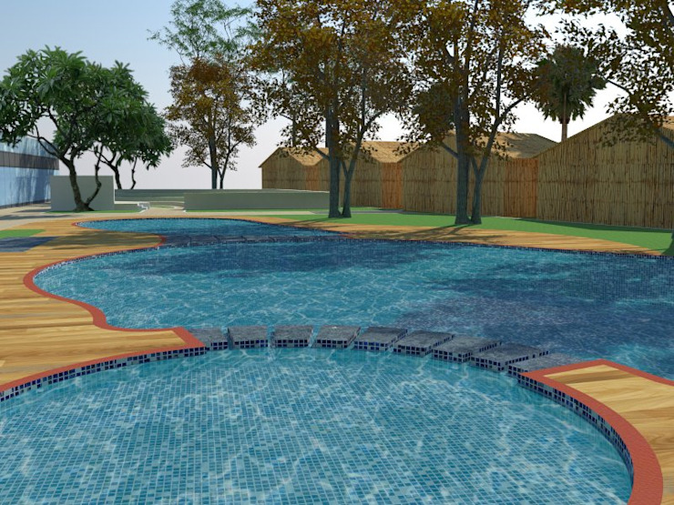 Swimming Pools: modern  by Cfolios Design And Construction Solutions Pvt Ltd,Modern