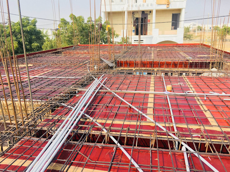 First Floor Slab Shuttering & Reinforcement by Cfolios Design And Construction Solutions Pvt Ltd Modern