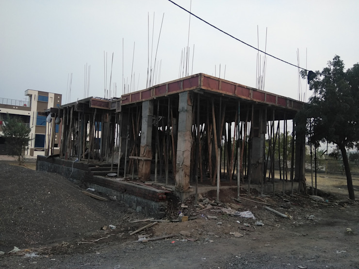 First Floor Slab by Cfolios Design And Construction Solutions Pvt Ltd Modern