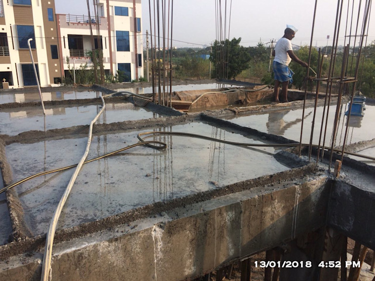 Curing For Slab by Cfolios Design And Construction Solutions Pvt Ltd Modern