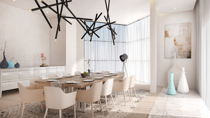 Dining Room:  Dining room by Dessiner Interior Architectural, Modern