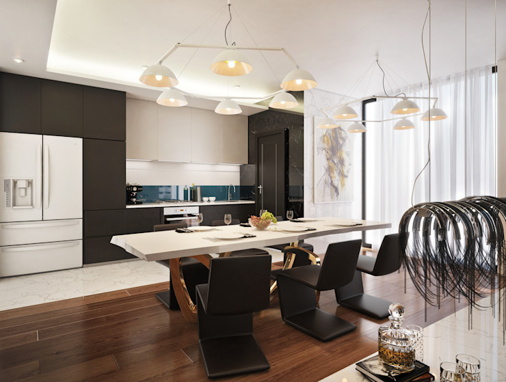 Kitchen Modern style kitchen by Dessiner Interior Architectural Modern