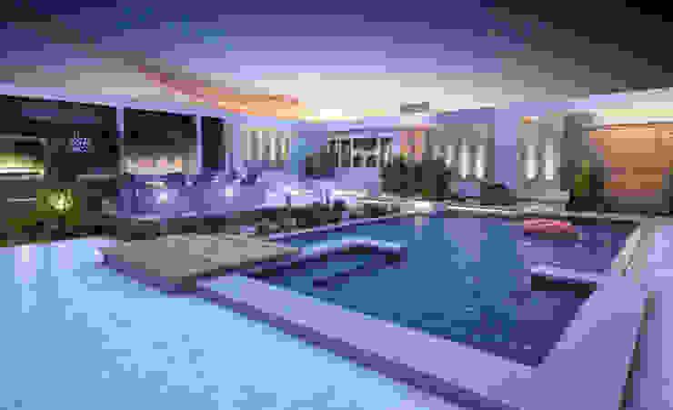 Landscape Design for Private Villa by TK Designs Modern Engineered Wood Transparent
