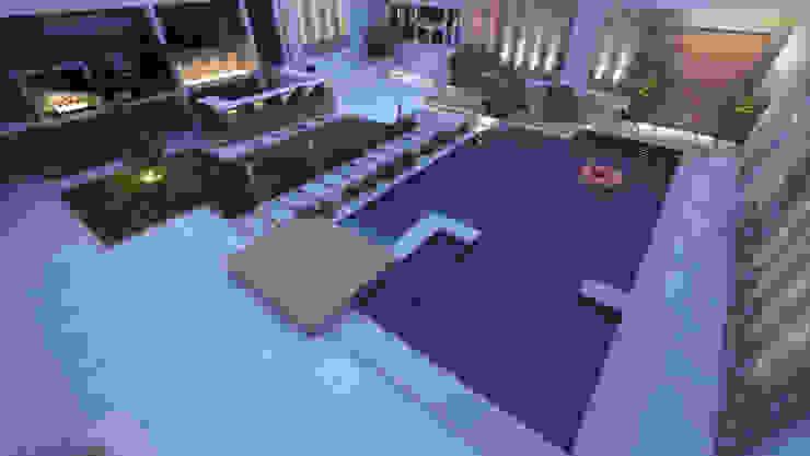 Landscape Design for Private Villa by TK Designs Modern Ceramic