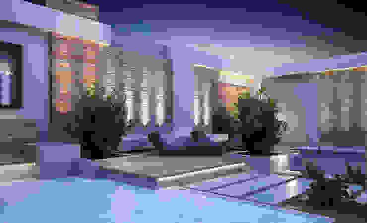 Landscape Design for Private Villa by TK Designs Modern Bricks
