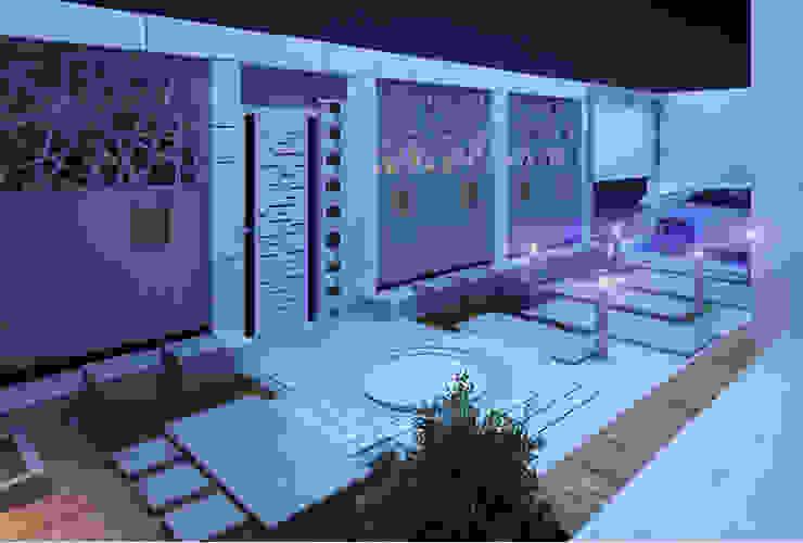 Landscape Design for Private Villa Modern Walls and Floors by TK Designs Modern Engineered Wood Transparent
