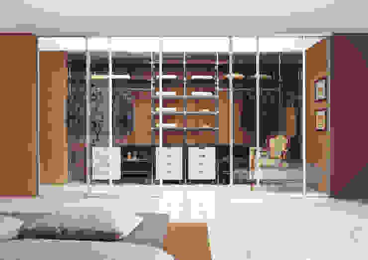 DIVISIONES DE AMBIENTE Dormitorios de estilo moderno de CARE MOBILIARIO MADRID,S.L. Moderno Vidrio