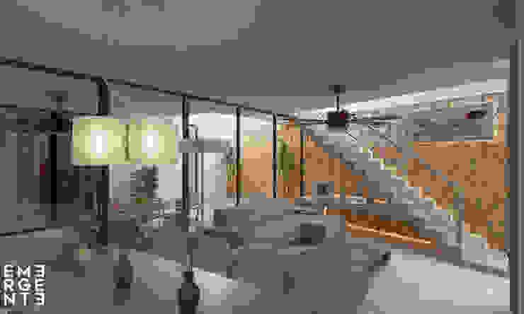 SALA VISTA 1 Salones eclécticos de EMERGENTE | Arquitectura Ecléctico