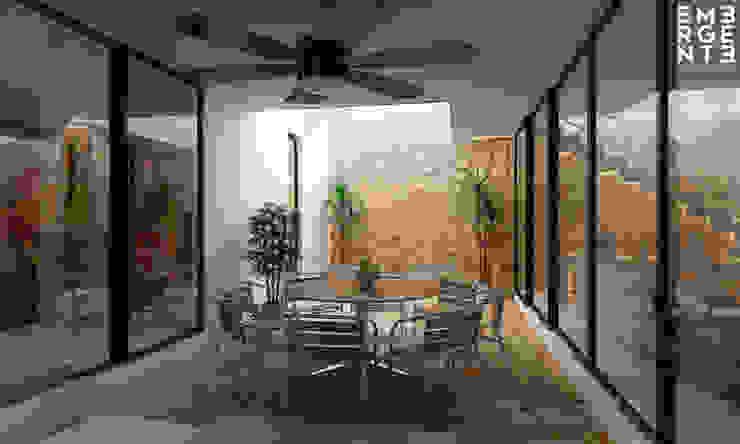 TERRAZA VISTA 1 Balcones y terrazas de estilo ecléctico de EMERGENTE | Arquitectura Ecléctico