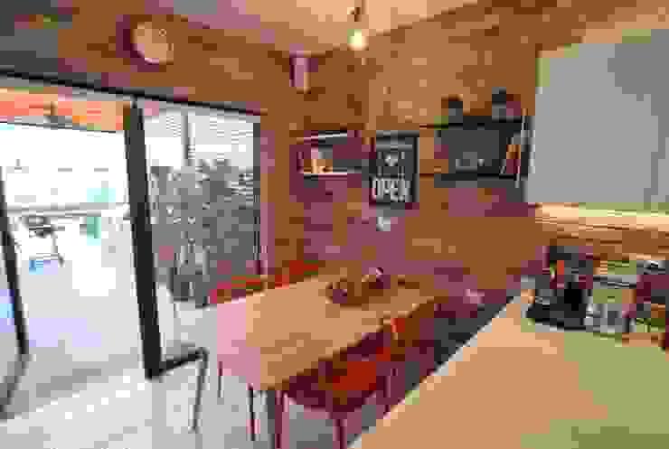 muro ladrillo Cocinas de estilo ecléctico de Selica Ecléctico