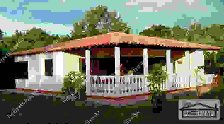 Casa campestre prefabricada moderna de Prefabricados Hacer Vivir Rural Concreto