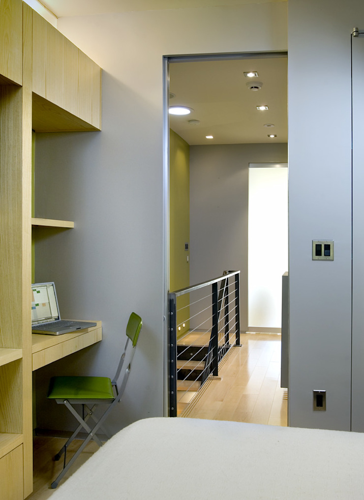 Foggy Bottom House Modern Study Room and Home Office by KUBE architecture Modern