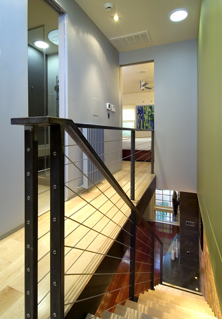 Foggy Bottom House Modern Corridor, Hallway and Staircase by KUBE architecture Modern