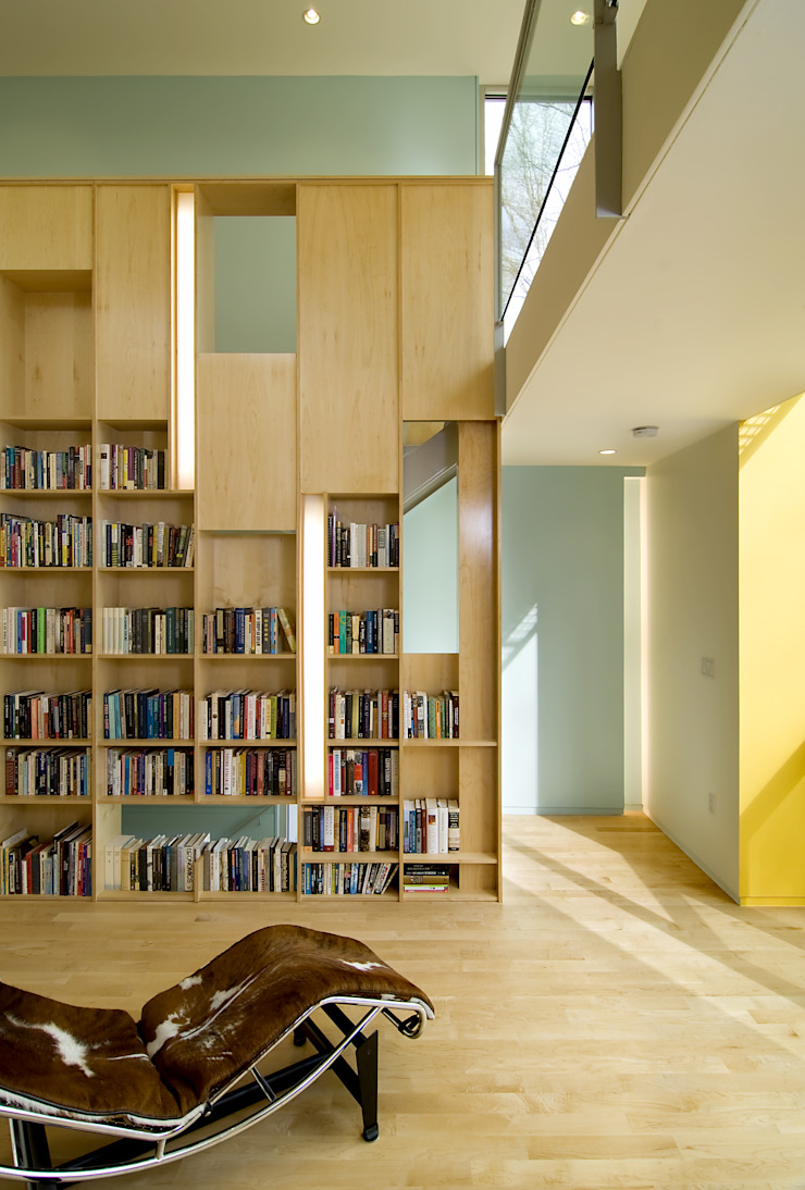 Forest House Modern Study Room and Home Office by KUBE architecture Modern