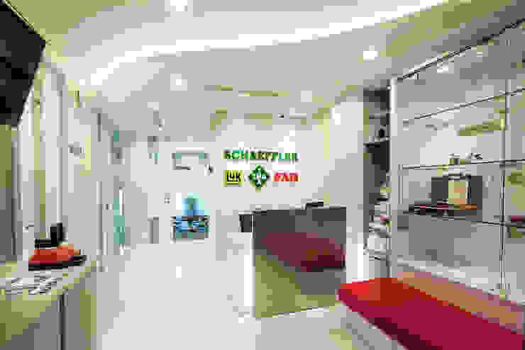 Reception Area Bangunan Kantor Modern Oleh Asa Adiguna, PT Modern