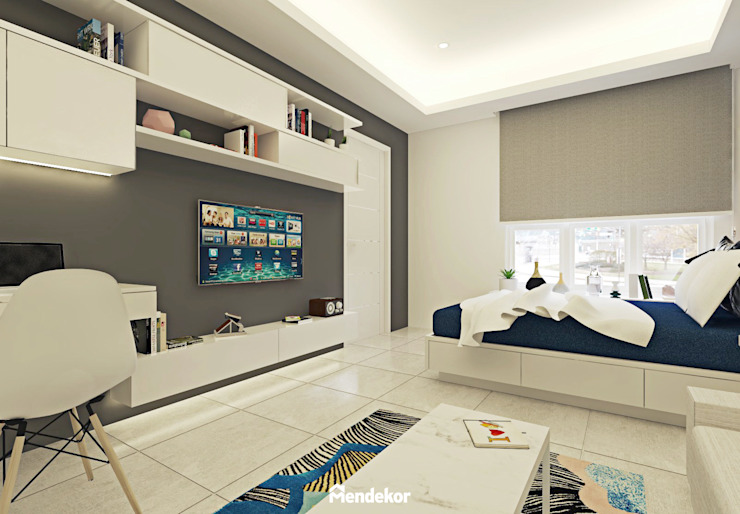 2nd Bedroom Kamar Tidur Modern Oleh Mendekor Modern Kayu Buatan Transparent