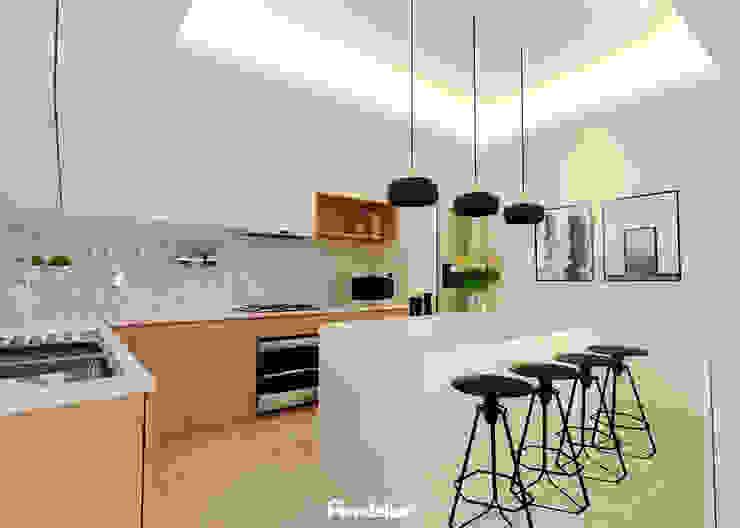 Kitchen Dapur Modern Oleh Mendekor Modern Kayu Buatan Transparent